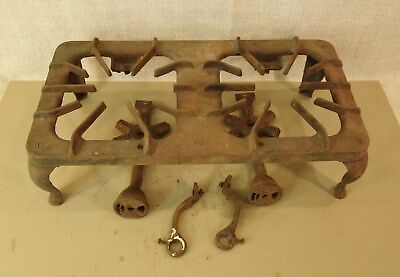 "VTG ""GRISWOLD"" No. 202 PROPANE/NATURAL GAS 2 BURNER STOVE CAST IRON PARTS"