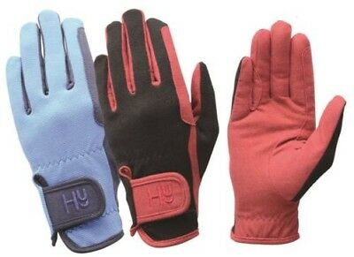 Hy5 Every Day Two Tone Equestrian Horse Riding Gloves Size XS-XL 11381P