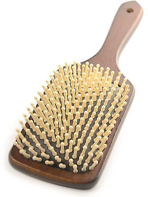 HySHINE Deluxe Horse Pony Grooming Wooden Mane & Tail Brush - Dark Brown 4585