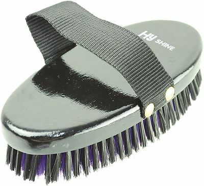 HySHINE Wooden Horse Pony Grooming Body Brush- Black/ Purple 4470