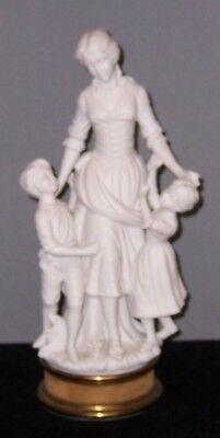 Vintage Parian Ware Large Figurine Woman with Children 16 Inches Tall