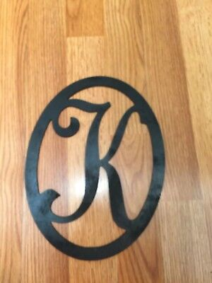 Black Wood Initial (Letter K) Wall Decor Sign