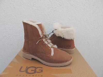 03614d1f8fa UGG QUINCY CHESTNUT Suede/ Sheepskin Winter Ankle Boots, Us 6/ Eur ...