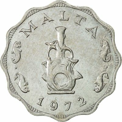 SCALLOPED VALUE WITHIN 3//4 WREATH MALTA 3 MIL 1972 UNC BEE AND HONEYCOMB,