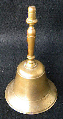 """Vintage Large Brass Bell Decorative School/Church Dinner 7.5"""" Tall with Clapper"""