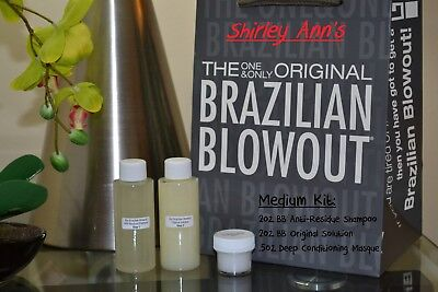 Brazilian Blowout Original Kit - 2oz Solution + 2oz Shampoo + ½ oz Masque (DIY)