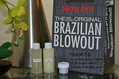 Brazilian Blowout Professional Hair Smoothing Solution - 2 oz Md Kit (DIY)