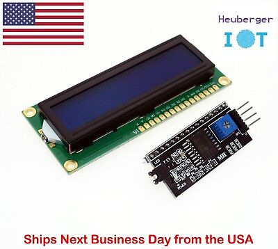 LCD1602 1602 16x2 LCD Display with IIC/I2C Serial Interface Adapter Module