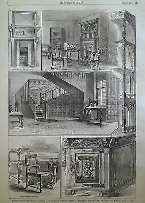 English Cottage Furniture St Georges 1877 Harper'S Weekly