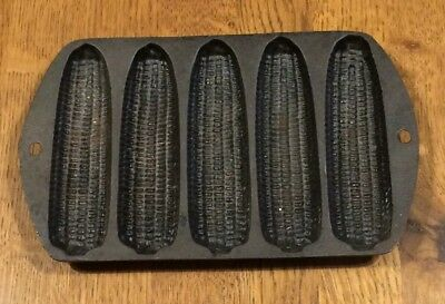 Vintage Cast Iron 5 Ear Corn Bread Muffin Stick Pan Skillet Mold