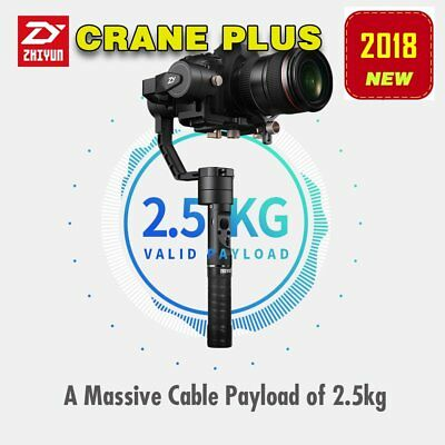 Zhiyun Crane Plus 3-axis Handheld Stabilizer Gimbal Max 2.5kg For DSLR Cameras