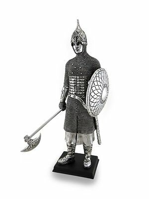 """13.75"""" Medieval Knight Ax & Armor Collectible Statue Figurine Battle Crusader"""