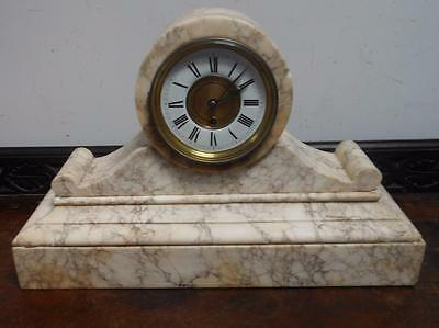 large french drumhead marble mantel clock
