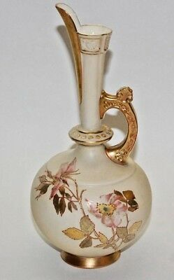 Vintage 1888 Royal Worcester China Pitcher 7.5 Inches Tall (Date Code Z)