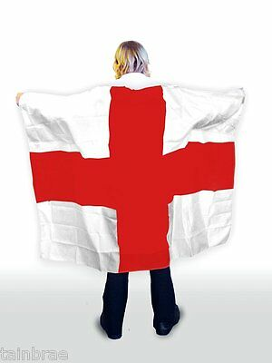 St George Cross England Flag Body Cape
