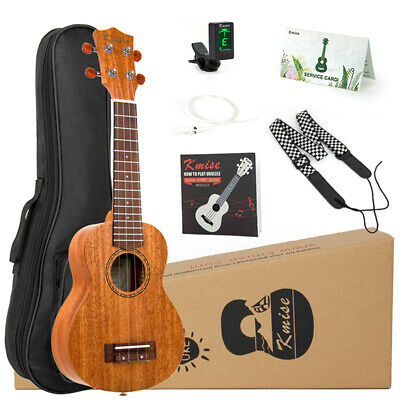 Ukulele Soprano Mahogany Ukelele 21 Inch Hawaii Guitar Kit for Beginners