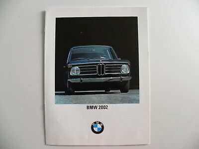Catalogue brochure BMW 2002 de 1969 en français