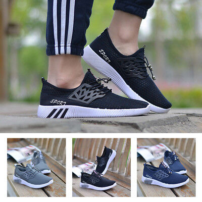 New Fashion Men Running Breathable Sports Sneakers Flats Casual Athletic Shoes.