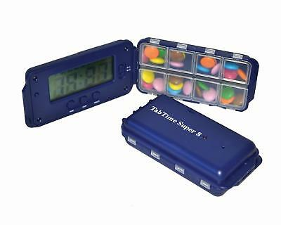 Patterson Medical TabTime Super 8 Daily Pill Dispenser and Reminder/Timer