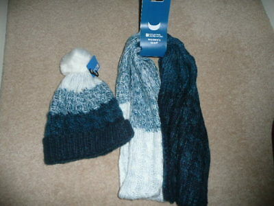 Mountain Warehouse Hat and Scarf set. Brand New. Blues