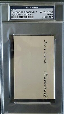 Theodore Roosevelt signed autograph PSA/DNA authentic!