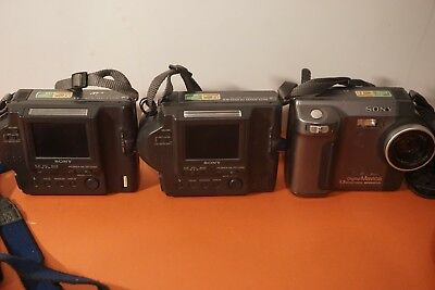 Lot of Sony mavica Cameras and some Olympus