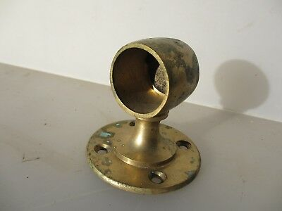 Vintage Brass Rail Bracket Holder Old Single Architectural Antique