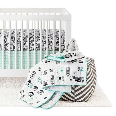 Oh Joy! 4pc Crib Bedding Set - City, Green/Blue