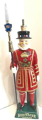 "Beefeater Gin The Beefeater Yeoman London Dry Gin Ceramic Decanter 16"" Empty"