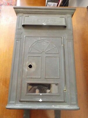 Antique early 1900s Stamped Brass Post Office Door Home Office Mail Box NO DENTS