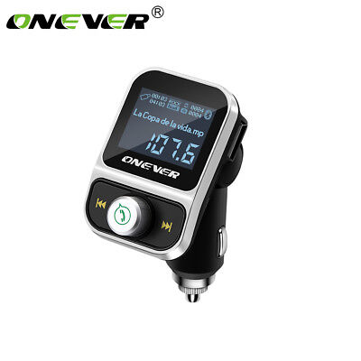 ONEVER Dual USB Car Kit Bluetooth MP3 Player Charger Wireless FM Übermittler