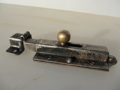 Vintage Wrought Iron Door Lock Brass Knob keep Bathroom WC Toilet Latch Bolt