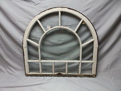 Antique 12 Lite Arched Dome Top Window Sash Shabby Old Vtg Chic 36x33 73-18P