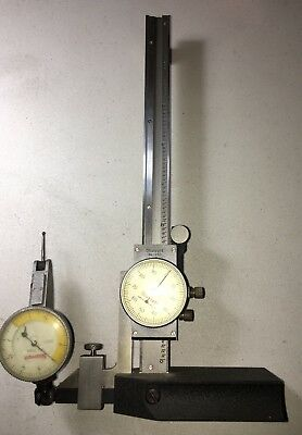 Starrett No.250-6 Height Gage With Starrett 708B Dial Test Indicator As Pictured