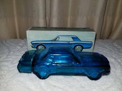 1964 Avon Cobalt Blue Mustang Car Bottle, Tai Winds After Shave, Empty in Box