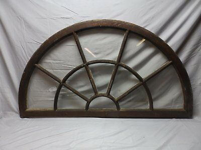 Large Wide Antique Arched Dome Top Palladian Window Old Vintage 62x35   77-18P