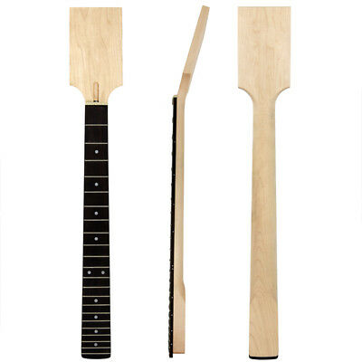 Electric Guitar Paddle Headstock Neck DIY Parts Unfinished Maplewood 22 Frets