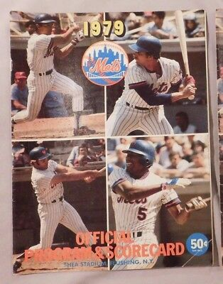 1979 New York Mets Vs San Francisco Giants Scorecard Program 7 15 79 e7c0762fd