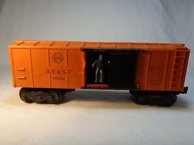 Lionel O Scale Vintage Santa Fe AT & SF Single Door Orange Box Car 63132- No Box