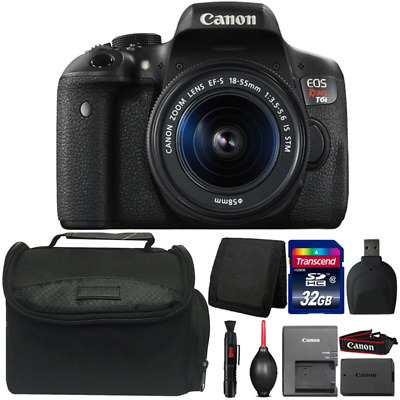 Canon EOS Rebel T6i 24.2MP DSLR Camera with 18-55mm IS STM Lens and Accessories