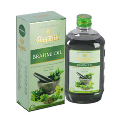 NEW! Ramtirth 200ml Brahmi Hair Oil 22 Exotic Herbs For Strong Roots Hair Loss