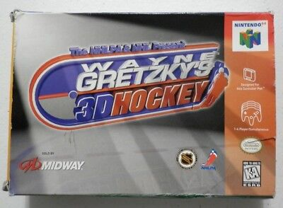 The Nhlpa And Nhl Presents Wayne Gretzky's 3D Hockey N64 Box And Manual Only