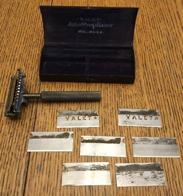 Antique Valet Autostrop Safety Razor Set Pat April 9 1912 USA Minnesota Label