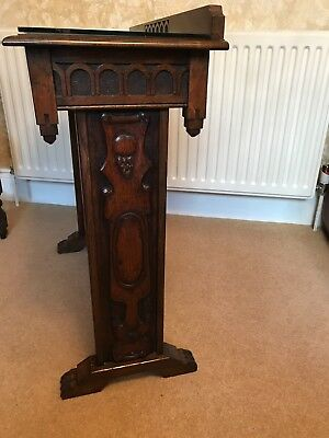 Antique Jacobean style  hand carved hall table in oak