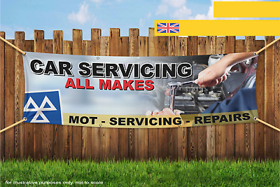 Car Servicing All Makes Garage Heavy Duty PVC Banner Sign 2691