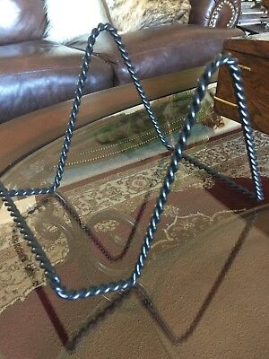 LARGE WROUGHT Iron Plate Picture Art Stand Easel Holder NWOT ...