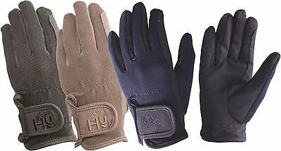Hy5 Children's Every Day Horse Riding Gloves- 3 Colours 10472P