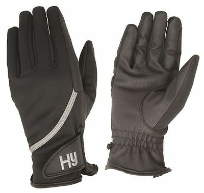 Hy5 Softshell Equestrian Horse Riding Gloves Black Colour Size XS-XL 11218P