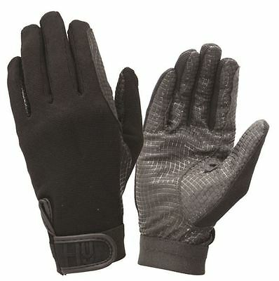 Hy5 Ultra Griff Equestrian Horse Riding Gloves Black Colour Size XS-XL 11010P