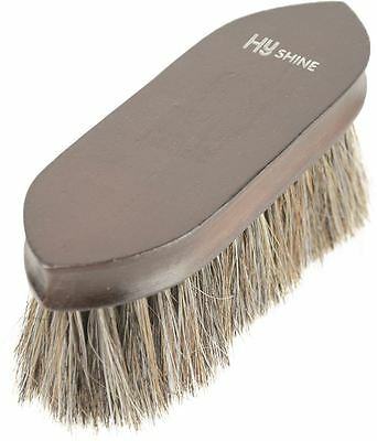 HySHINE Deluxe Horse Hair Wooden Horse Grooming Dandy Brush - Dark Brown 4582